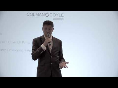 Howard Colman of Colman Coyle, UK